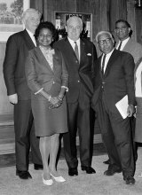 High esteem: Faith Bandler with Prime Minister Harold Holt (centre).