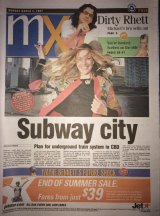 The first Brisbane edition of mX, which hit the streets on March 5, 2007.
