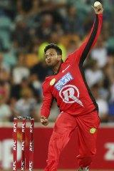 Shakib Al Hasan played for the Melbourne Renegades last month.