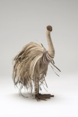 Kalaya (Emu), 2011, wire, raffia, desert grass, emu feathers.