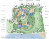 An artist's impression of the playground site.