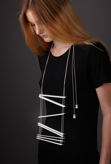 Venetian Blind Tragedy,  jewellery by Katheryn Leopoldseder.