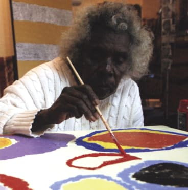 Sally Gabori at 82, a year after she made her first painting.