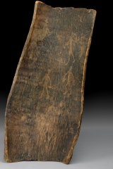 Bark etching by the Dja Dja Wurrung people.