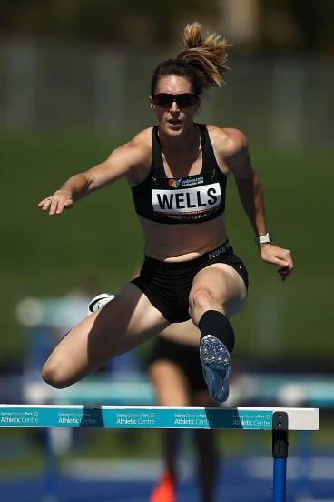 Lauren Wells won her 10th national 400m women's hurdles crown.
