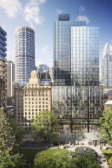 Wynyard Place development from Carrington Street by Brookfield Property Partners. Image supplied.  Wynyard Place_view of Carrington Street.jpg