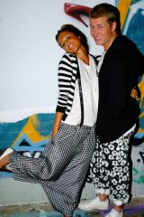 Pip Edwards and Dan Single at a party in Sydney's Chippendale back in 2006.
