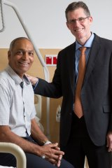 Mr Grewal has battled back pain for decades.