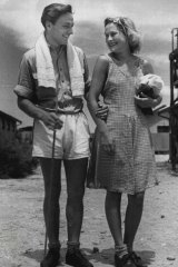 Wirner Baumann, 24, from Estonia, and Erica Elksmis, 22, from Latvia, who married at the Bonegilla camp - the first of the Baltic migrants to do so - in December 1947.