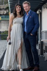 Husband and wife and now ABC stablemates Richard Roxburgh and Silvia Colloca.