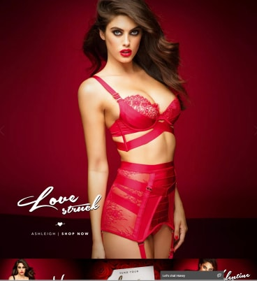 'Love struck': Part of the Honey Birdette Valentine's Day ad campaign.
