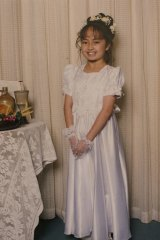 Angelica, aged 11, at her holy communion.