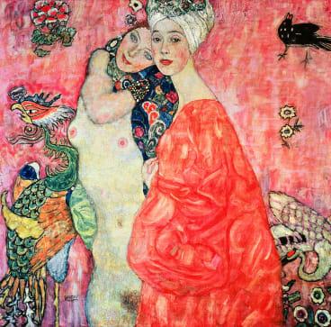 The Girlfriends, 1916-17 (destroyed in 1945) by Klimt, Gustav (1862-1918); Osterreichisches Galerie, Vienna, Austria. Print available from Thestore.com.au/klimt