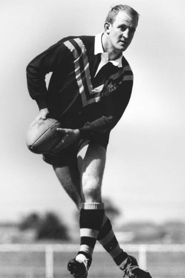Johnny Raper in his Australian jersey in 1967.