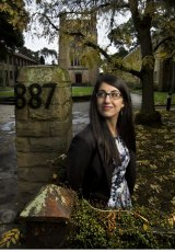 Theresa Chamoun, 22, from Mill Park, at the Newman College chapel.