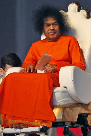 Sathya Sai Baba, who died in 2011 and received a state funeral.