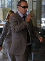 Chad Halliday arrives at the Downing Centre Local Court.