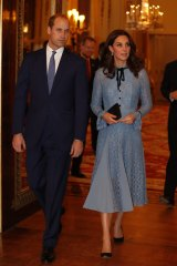 Prince William and Kate, the Duchess of Cambridge, attend a reception at Buckingham Palace to celebrate World Mental Health Day.