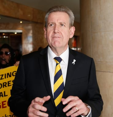 Bottled: Barry O'Farrell's political destruction provoked Liberal Party outrage towards the ICAC.