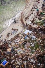 The devastation left by Hurricane Irma in Jost Van Dyke, British Virgin Islands.