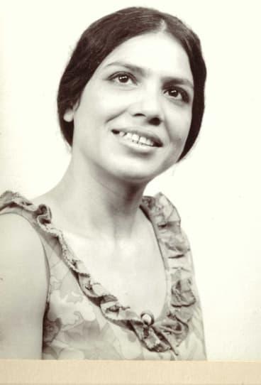 Ruqaiya Hasan in her younger years.