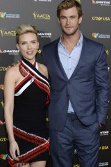 d17015f8f97 Scarlett Johansson and Chris Hemsworth at the 2015 G Day USA Los Angeles  Gala.