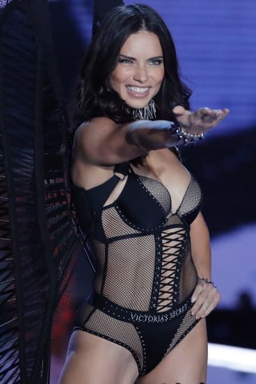 Model Adriana Lima at the Victoria's Secret fashion show in Shanghai in November.