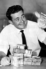 """Bank-teller Kerry Corcoran won $100,000 in the Opera House Lottery in 1962. He said he was  going to buy a high-powered sports car, """"a great big house"""" and a luxury world cruise."""