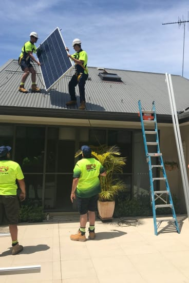 Michael Peters had solar panels installed at his house as part of a renovation.