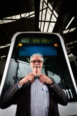 When Bruce Whalley had a health scare, the former banker decided to change careers. Now he may just be the city's most talkative tram driver.