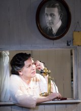 Best actress winner Pamela Rabe in Belvoir's production of<i> The Glass Menagerie</i>, which also won best play.