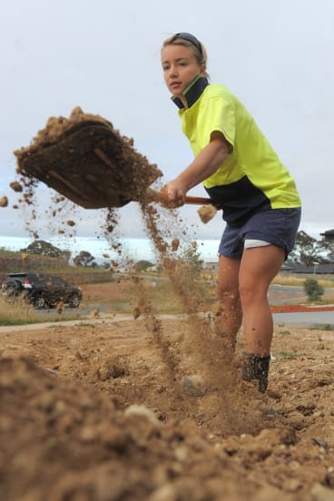 Georgia Yeoman-Dale, pictured here in 2012, used to work as a builder's labourer in Canberra.