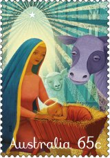 Sonia Kretschmar's traditional Christmas 65 cent stamp design for 2015.