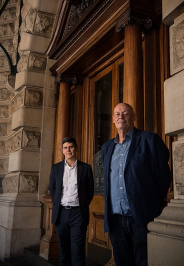NSW Government Architect Peter Poulet (on left) and Charles Pickett, curator of an exhibition marking the 200th anniversary of the office of the NSW Government Architect.