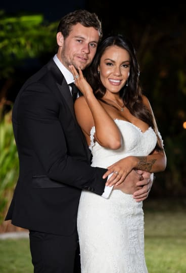 Ryan Gallagher and Davina Rankin after being married at first sight.