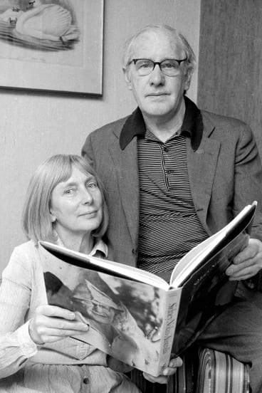 Mary and Sidney Nolan in Sydney in 1980.