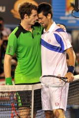 Murray's nemesis: Andy Murray and Novak Djokovic.