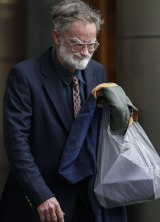 Noel Mitchell leaves the County Court in Melbourne after being sentenced.