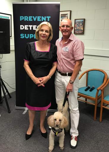 Greg Kelly with Ita Buttrose, Alzheimer's Australia national ambassador.