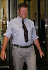 Damian Vance leaves the royal commission.