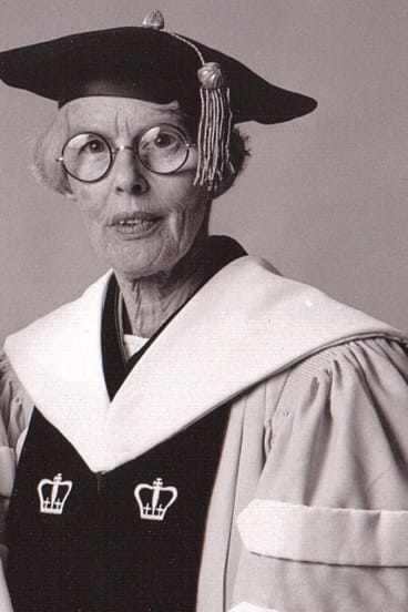 Janet Carr when she received her doctorate.