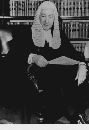 Former High Court justice Lionel Murphy pictured in 1975.