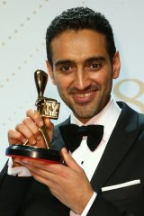 <i>The Project's</i> Waleed Aly with the Gold Logie.