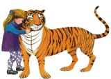 An illustration from <i>The Tiger Who Came to Tea</i>.