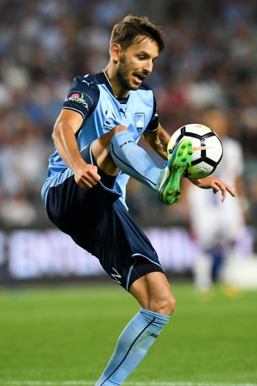 Special: Milos Nonkovic scored a spectacular first goal for the Sky Blues.