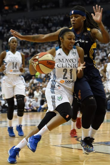 Renee Montgomery in action for Minnesota Lynx in the WNBA Finals against Indiana Fever.