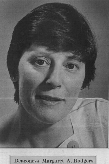 Leadership: Margaret Rodgers as the principal of Deaconess House in the 1970s and '80s.