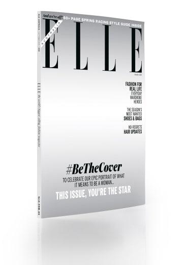 <i>Elle</i>'s faceless October cover.