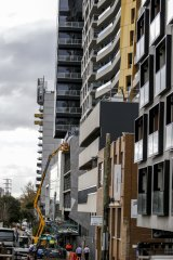 Construction is underway or complete on 30 apartment towers in the Forrest Hill precinct.