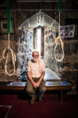 Callout: At 83, bellringer Graeme Heyes, pictured in St Patrick's Cathedral belltower, is going strong but his group needs more recruits.